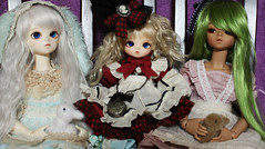 Sisters (o_lillet_o) Tags: bluefairy msd bjd tf tinyfairy doll olive patrick ws baked tan leeke honey morigirl theme special alice