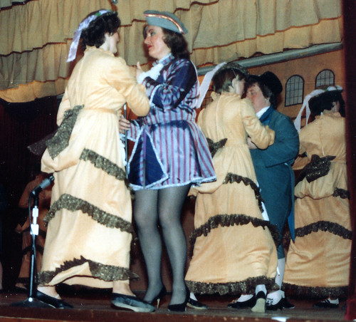 1983 Robinson Crusoe 17 (Pauline Womersley in blue stipes, Margaret Fielding in blue with black hat)