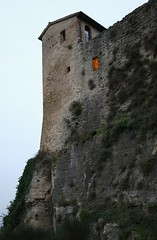 there was a ghost into the castle? (ricciatop) Tags: castrocaro rocca