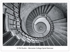 Spiral Staircase (Phil Durkin) Tags: england oxford spiralstaircase worcestercollegeoxford college education light staircase vertical manfrotto canon5dmkiii canonuk canonofficial