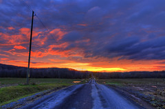 Small Town Boy (Matt Champlin) Tags: dustinlynch smalltownboy random dirt road country nature sunset farm rural canon 2016 life change outdoors colorful beautiful landscape peace peaceful movingon fire