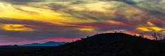 Desert Sunset Pan (Terry L Richmond) Tags: desert arizona silhouette sunset colorful colors clouds skyscape canon6d canon1740 travel santanvalley