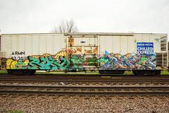 Roka Aporia (This Car Excess Height) Tags: graffiti train railroad railcar art benching vadalism trains armn reefer boxcar fb um roka aporia kres