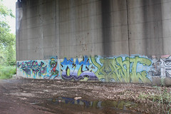 Spaz, Oc, Ment (NJphotograffer) Tags: graffiti graff new jersey nj bridge spaz oc mhs crew ment feb