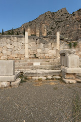 "Delphi, The Sacred Way – XII – The Athenians' Stoa (egisto.sani) Tags: ""early classical period"" primo classico periodo ""eumenes ii"" soter ""attalus pergamon"" attalo pergamo attalus athenians stoa"" ""stoa degli ateniesi"" stoa portico phocis focide delphi delfi ""archaeological museum"" ""museo archeologico"""