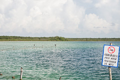 Tulum Kanlum Lagoon blue