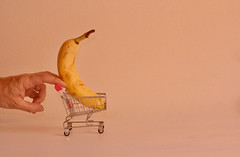 Big Banana (marcus.greco) Tags: big banana fruit conceptual hand pink color surreal trolley