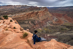 Why parents have grey hair (Bill Bowman) Tags: capitolreefnationalpark fruitaut parentalacrophobia navajoknobstrail fearless