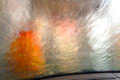 carwash 3 (HansHolt) Tags: carwash wasstraat autowasstraat windscreen windshield voorruit water foam schuim brush wrap light abstract iphone4s