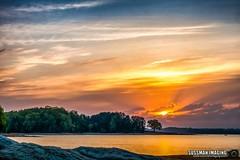 Easter Morning Sunrise (The Suss-Man (Mike)) Tags: clouds cumming eastersunrise forsythcounty georgia lake lakelanier lanier longexposure nature rocks sky slowshutterspeed sonyilca77m2 sunrise sussmanimaging thesussman trees vannstavernpark water
