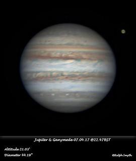 Jupiter & Ganymede 07.04.17 @22.47BST