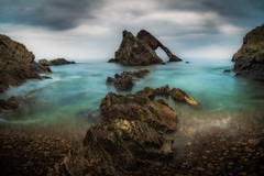 Out of the Mist (Augmented Reality Images (Getty Contributor)) Tags: bowfiddlerock canon cliffs clouds colours landscape leefilters longexposure mist morayfirth portknockie rocks scotland water waves