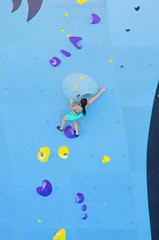 POP_8021 (Philip Osborne Photography) Tags: nationalwhitewatercenter charlotte nc tuckfest womensdeepwater rock climbers pro woman shorts sports bra athletic active ponytail falling arabellajariel deepwatersolo climbing 2017