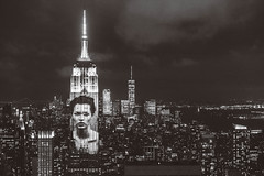 Harper's Bazaar 150 Year Anniversary on Empire State Building - Kate Moss by Peter Lindbergh (Kenny Rodriguez) Tags: empirestatebuilding harpersbazaar150thanniversary harpersbazaar newyorkcity projections kennyrodriguez