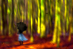 Alone (Ans (major computer problems)) Tags: portrait selfportrait female woman art fineart painterlyforest trees woods ansvandesluis