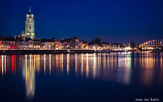 Blue hour Deventer (-+Niels+-) Tags: blue hour deventer bluehour longexposure night canon house houses evening nightlights water boats urban city thenetherlands holland tamron 2470