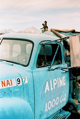 Porst SP Alpine Tanker Truck (▓▓▒▒░░) Tags: vintage classic retro analog mechanical 35mm film camera history japan 70s 80s california west coast historic desert abandoned ruins highway 395 owens valley sierra nevada mountains eastern lone pine big independence bishop randsburg