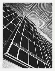 righting history (chickentender™ (Eyewanders Foto)) Tags: bw concrete down eyewandersfoto future past present ricohgrdiii scrappy street tile turn twist