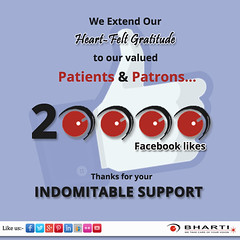 We extend our Heart-Felt gratitude to our valued patients & patrons for 20000+ like on facebook. (bhartieye) Tags: bharti eye eyecare delhi services refractive retina foundation facebook phacoemulsification phacoemulisification asthetics care cataract lasik catract laser phacocataract ophthalmology oculoplasty hospital glaucoma glucoma