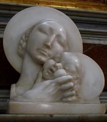 """Virgin Mary with Child"" (1910-1929) by Antonio de Val (Naples 1895-1973) - Santa Lucia a Mare Church in Naples (Carlo Raso) Tags: virginmary antoniodeval naples italy"