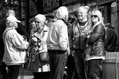 Shades (h_cowell) Tags: candid street streetphotography crowd people mono monochrome blackandwhite macclesfield cheshire panasonic gx7