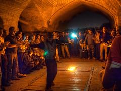 A group of people dancing and singing traditional songs under the Khaju Bridge in Esfahan at nightfall (CamelKW) Tags: 2017 abyana iran isfahan kashan people dancing singing traditionalsongs khajubridge esfahan nightfall