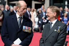 "HRH The Duke of Kent KG Grand Master United Grand Lodge of England and Grand Director of Ceremonies Oliver Lodge attending the Freemasons VC Memorial Unveiling Event. The 64 Freemasons awarded the Victoria Cross (VC) during The Great War (WW1) were honour • <a style=""font-size:0.8em;"" href=""http://www.flickr.com/photos/60049943@N02/34262843446/"" target=""_blank"">View on Flickr</a>"