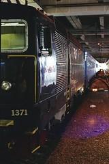 1371 (Analog World Thru My Lenses) Tags: ricohxr7 rikenon28mmf28 fujisuperiaxtra800 stockholm april 2016 locomotive train trains darknes film analog