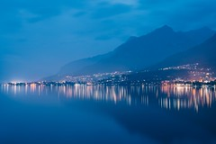 Blue landscape (mougrapher) Tags: ifttt 500px trees sky landscape lake city sunset mountains water reflection river night light clouds italy lights landscapes mountain italia long exposure lombardia milano lombardy lago di como vsco