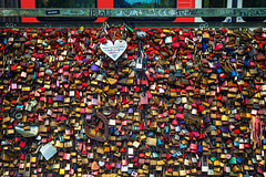 Love Locks (Kevin Coppock) Tags: hohenzollernbridge hohenzollern bridge love locks romance lock samsung nx nx1 samsungnx1650mmf228 cologne germany de koln europe