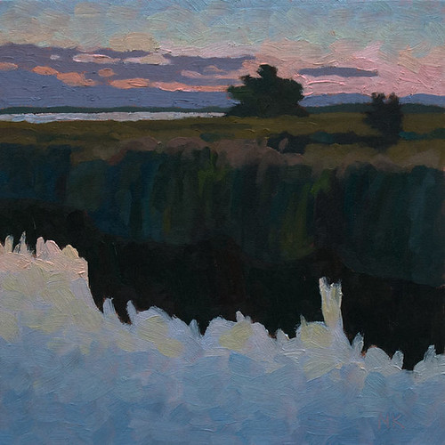 dark reflections 30x30cm oil