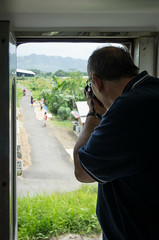 Taking photos from the train (basvredeling) Tags: travel holiday train indonesia java transport jakarta tropical yogyakarta geocity exif:iso_speed=200 exif:focal_length=24mm exif:make=pentax camera:make=pentax geostate geocountrys exif:aperture=40 camera:model=pentaxk5 exif:model=pentaxk5 exif:lens=smcpentaxda18135mmf3556edalifdcwr