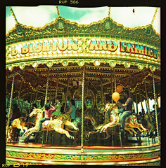 carousel (pho-Tony) Tags: color colour 120 6x6 film square xpro fuji cross crossprocess shift plastic velvia roll process e6 glitch reflector 620 rvp rollfilm iso50 586 kodakbrowniestarmatic fujirvp brownieflash20 6cmx6cm kodakbrownieflash20 rvp586