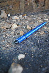 Broken Discarded. (ShannonBell_) Tags: blue broken stone pen concrete floor rubble