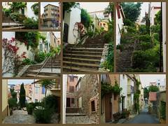 Ruelles et escaliers au Cap d'Osne (Claudie K) Tags: montage banyulssurmer claudiek