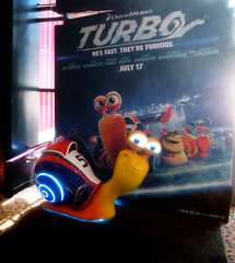 Turbo Racing Snail Light Up Standee 1776 (Brechtbug) Tags: street new york city nyc blue light holiday film computer movie poster spring theater neon theatre character cartoon decoration snail racing billboard lobby turbo ornament ornaments 25 empire animation amc 42nd standee standees 2013 06152013