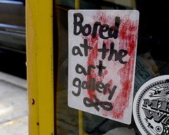 Bored at the art gallery (-Curly-) Tags: streetart art graffiti sticker stickerart curly