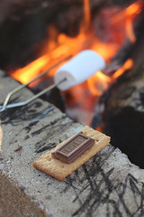 melting (Pics by Abigail) Tags: summer food canon dessert fire yummy melting eating chocolate sticky flames mmm hersheys bonfire marshmallow smores cracker firepit smore evenings 50mm18 gooey grahamcracker summerevenings makingsmores hersheychocolate chocolatesquare roastingamarsmallow