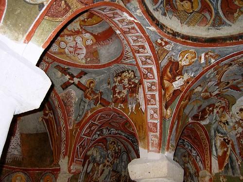 Göreme (Capadocia-Turquía). Iglesia de Çarikli o de las Sandalias