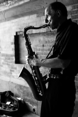 All That Jazz (Kelly Ganning) Tags: old nyc newyorkcity blackandwhite music newyork man centralpark jazz player saxaphone musical instrument musicalinstrument saxaphoneplayer
