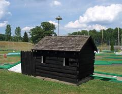 OH Uniontown - Rolling Greens Miniature Golf 12 (scottamus) Tags: ohio golf miniature log cabin mini course puttputt uniontown starkcounty rollinggreensminiaturegolf