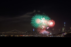 San Francisco Let Your Colors Burst (Bryan Nabong) Tags: california city bridge urban tower northerncalifornia skyline night bay cityscape unitedstates time fireworks events northamerica geography 4thofjuly independenceday sausalito coit transamericabuilding fortbaker