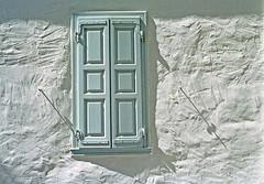 Sifnos  032 (2bGreek) Tags: windows sunset shadow sea geometric colors wall sunrise island warm doors aegean shapes greece romantic drapes sifnos cyclades