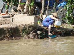 At the riverside of Mekong, Cn Th, Vietnam (Alta alatis patent) Tags: cruise river riverside market floating delta vietnam cai boattrip mekong cantho rang cnth