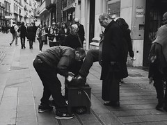 Back to the past (Sabry Ardore) Tags: road street old people urban italy white man money black history photography shoes italia time little rich centro poor perspective platform clean surprise napoli ago times ages noble tempi storico vecchi miseria piattaforma nobilt