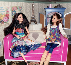 Their expressions CRACK me up! (Michelle Loves Junque) Tags: barbie teresa raquelle dolldiorama playscalediorama barbielifeinthedreamhouseraquelle barbielifeinthedreamhouseteresa girlsnightdiorama