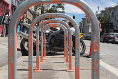 Bikes and Bikes (Wilson Lam {WLQ}) Tags: hello sanfrancisco red haightstreet yah sfflickrmeetup