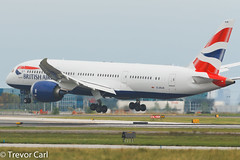 British Airways | G-ZBJB | Boeing 787-8 Dreamliner (Trevor Carl) Tags: canon airplane eos photo aviation transport boeing britishairways yyz avgeek torontopearsoninternational 60d inauguralflight alltypesoftransport 7878dreamliner gzbjb