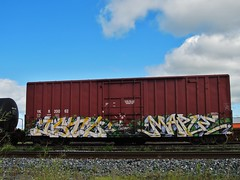 ISTO, MAPLE (YardJock) Tags: graffiti spraypaint boxcar freighttrain