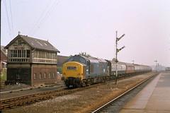 73 361 250873 Kirkham D6953 (The KDH archive) Tags: railway 1973 kirkham class37 37699 37253 d6953